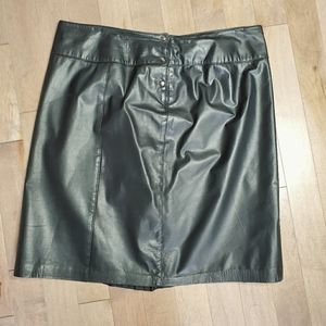 Vintage 90's genuine leather skirt